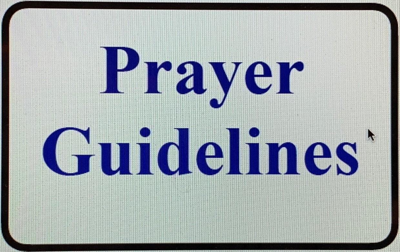 Prayer Guidelines
