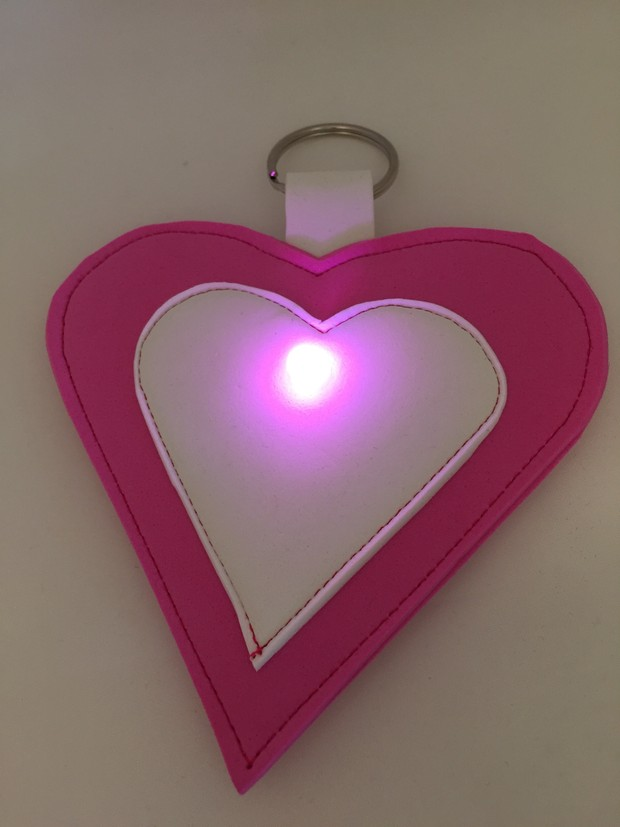 Heart Fabric Torch Instructions