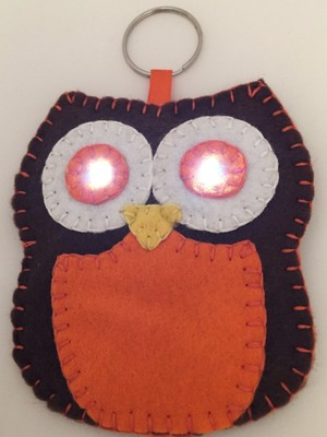 Owl Fabric Torch Instructions