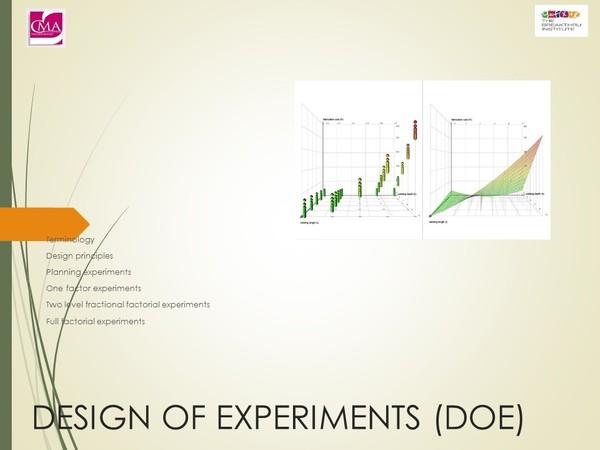 Process Improvement:  Design of Experiments (DoE)