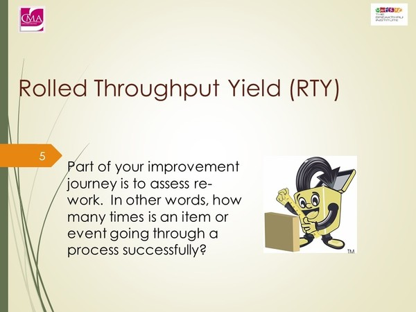 Process Improvement:  Kaizen Events  -  (Rolled) Through Put Yield TY/RTY