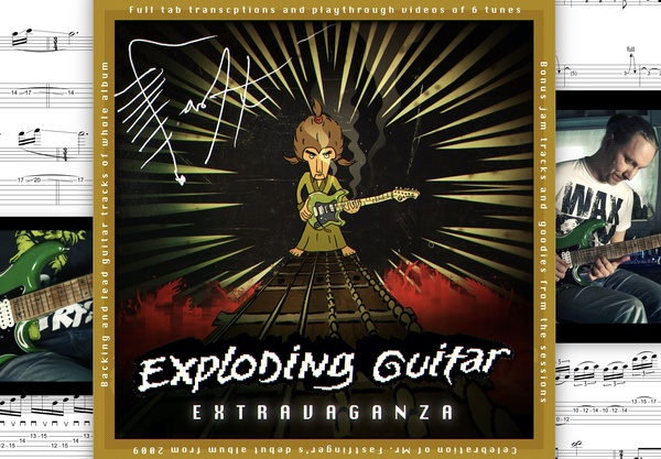 Exploding Guitar Extravaganza (audio video tab -package) Mr. Fastfinger