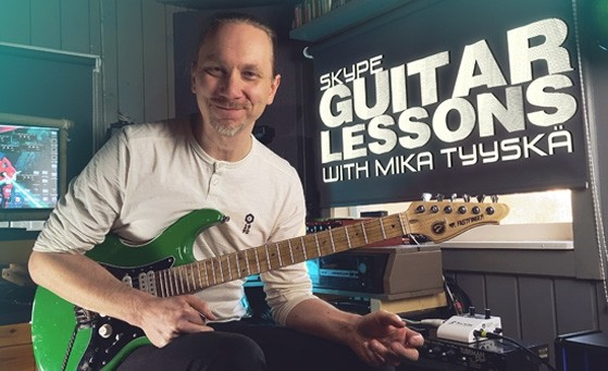 Private Skype guitar lessons with Mika Tyyskä