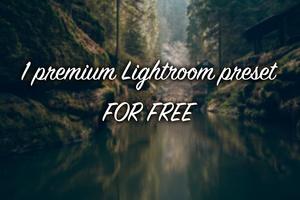 1 Premium Lightroom preset -  FOR FREE