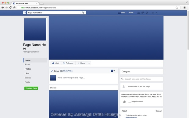 Facebook Page Mockup (2017 Layout)