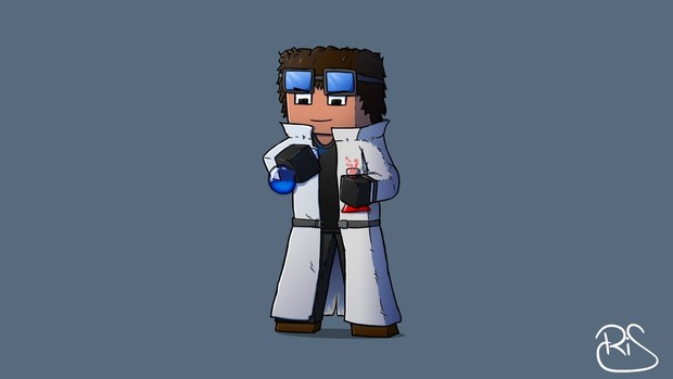 Hand shaded Minecraft skin!