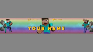 Free Minecraft Banner For YouTube