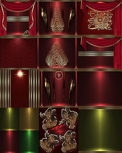 GOLD RED CHRISTMAS