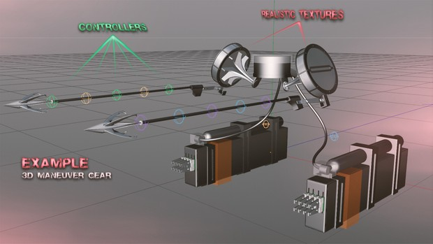 Attack on Titan C4D Model Pack - Jays