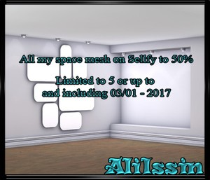 All my space mesh on Sellfy to 50%