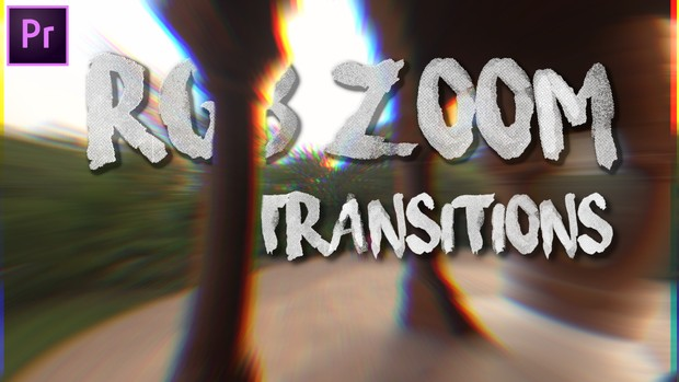 Premier Pro RGB Zoom Transitions PACK