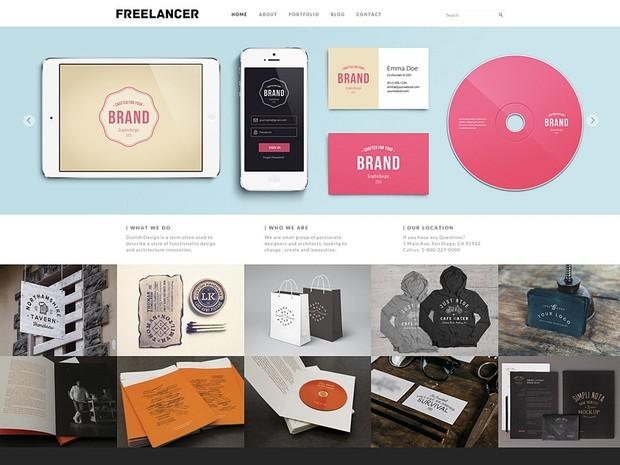 Freelancer Responsive WordPress Theme