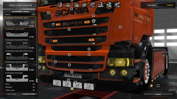 Bumper Lights UPDATED! V1.30 For Scania R&S And T!!