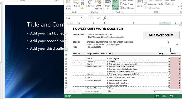 PowerPoint word count (Enterprise license)