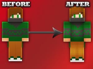 1 Minecraft skin RESHADING