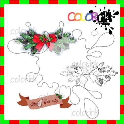Ornament 2 and sentiment Digi stamp