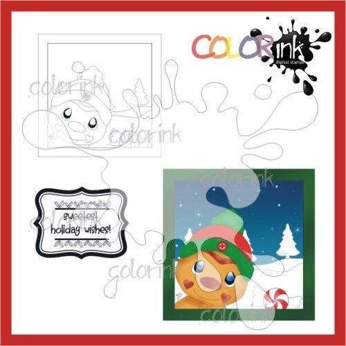 GingerMan Frame and sentiment Digi stamp