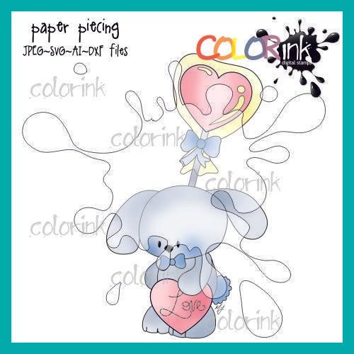 lollipop boy bunny paper piecing