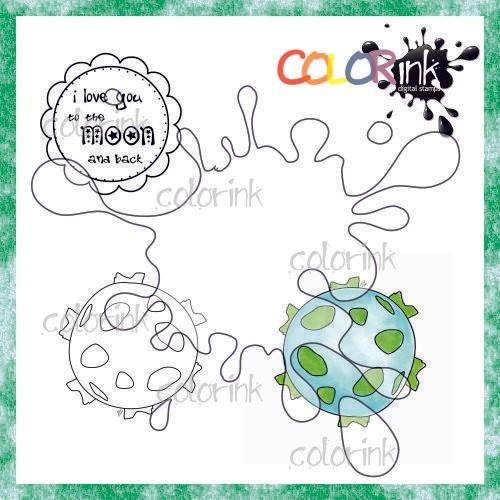 Planet and sentiment Digi stamp