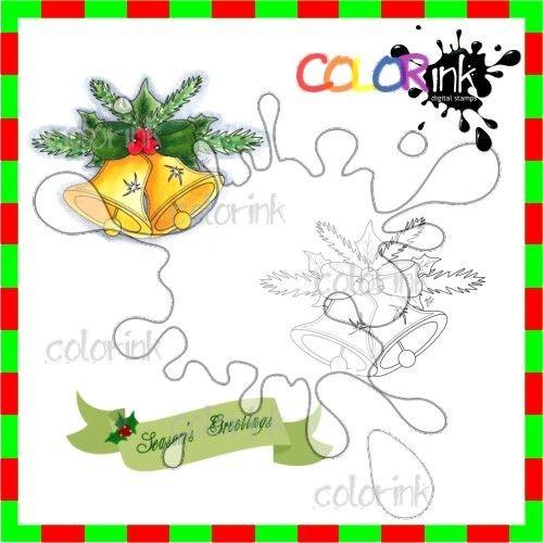 Ornament 4 and sentiment Digi stamp