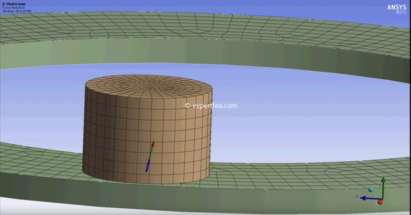 ANSYS WB 17.1 MECHDAT file and 3D model for plastic pin erosion