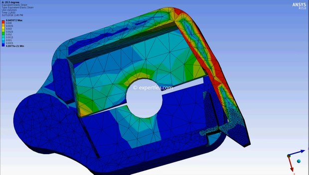 ANSYS WB 15 MECHDAT file and 3D model for hinged box with clip