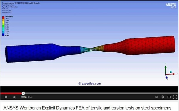 ANSYS Workbench MECHDAT file and 3D model for tensile and torsion
