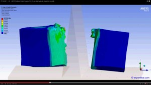 ANSYS Workbench MECHDAT file and 3D model for jelly drop and cut