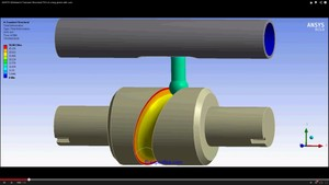 ANSYS Workbench MECHDAT file and 3D model for long piston with cam