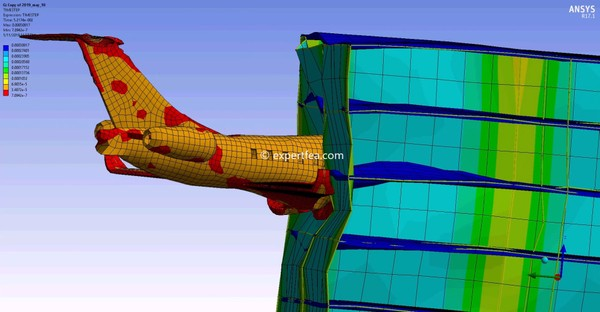 ANSYS Workbench 17.1 Mechdat file and 3D model for small airplane impact