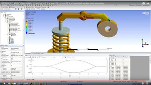 MECHDAT file and 3D model for FEA of camshaft-rocker-valve assembly