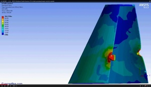 ANSYS Workbench MECHDAT file and 3D model for bullet-bucket