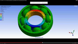 ANSYS Workbench MECHDAT file and 3D model for ball bearing