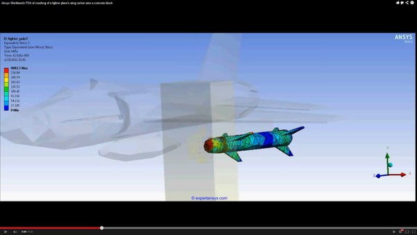 ANSYS Workbench MECHDAT file and 3D model for fighter