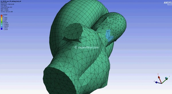 ANSYS WB 15 MECHDAT file and 3D model for airbag dummy