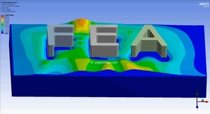 ANSYS WB 15 MECHDAT file and 3D model of letters embossing