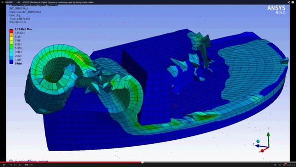 ANSYS Workbench MECHDAT file and 3D model for machining with lathe