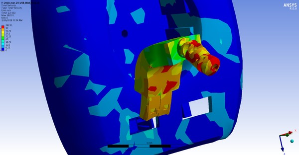 ANSYS WB 15 MECHDAT file and 3D model of USB test