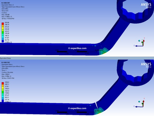 ANSYS  Workbench 19.1 Mechdat file and 3D model for wrench XFEM