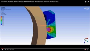 ANSYS 16.2 project file and 3D model - WEAR at block on ring