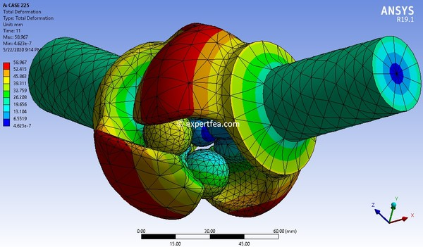 ANSYS  Workbench 19.1 Mechdat file and 3D model for Weiss joint