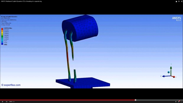 ANSYS Workbench MECHDAT file and 3D model for capacitor