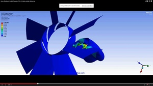 ANSYS Workbench MECHDAT file and 3D model for fan