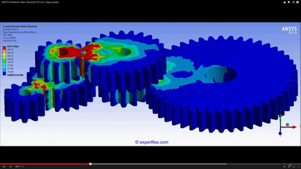 ANSYS Workbench MECHDAT file and 3D model for gearbox