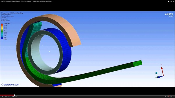 ANSYS Workbench MECHDAT file and 3D model for arching