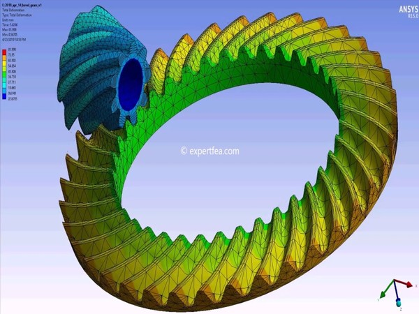 ANSYS Workbench 15.0 Mechdat file and 3D model of spiral bevel gears