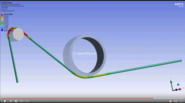 ANSYS WB 15 MECHDAT file and 3D model for rope simulation