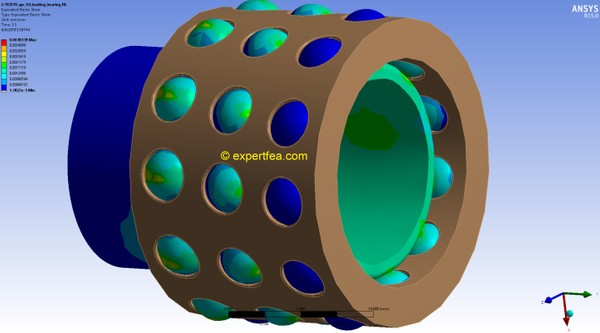 ANSYS Workbench 15.0 MECHDAT file and 3D model for ball bushing or linear bearing