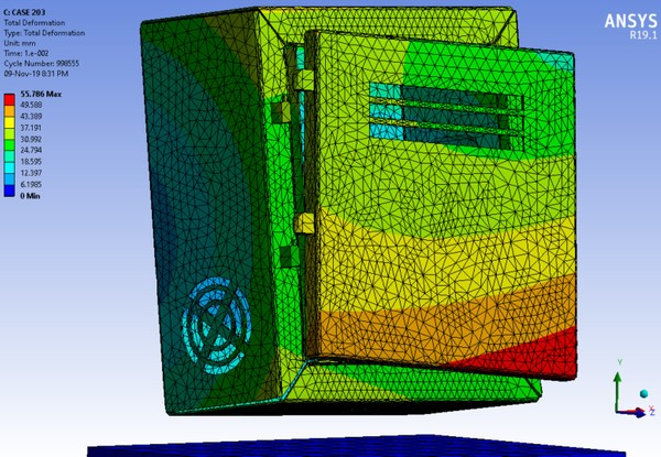 ANSYS  Workbench 19.1 Mechdat file and 3D model for Al box drop test