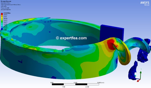 ANSYS Workbench 15.0 Mechdat file and 3D model for pipe beveling